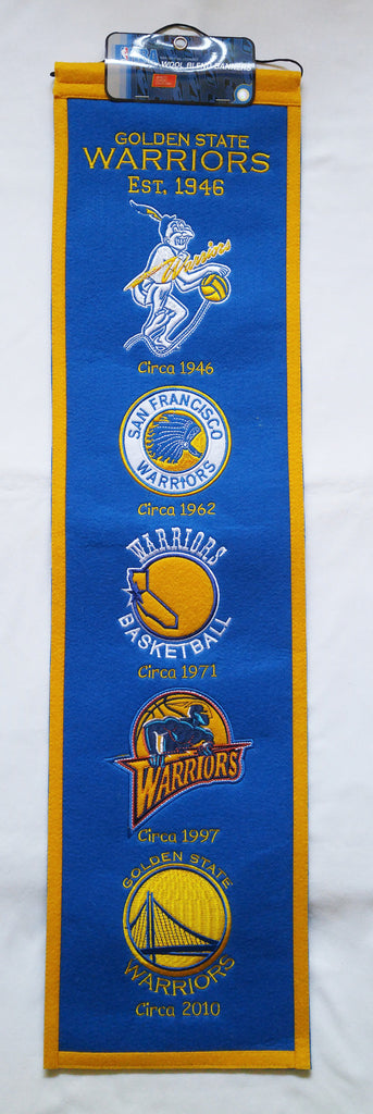 "Golden State Warriors 8""x32"" Wool Heritage Banner"