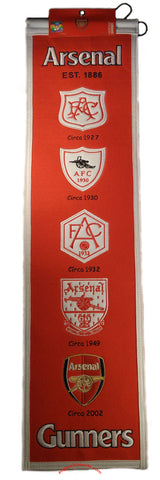 "Arsenal FC 8""x32"" Wool Heritage Banner"