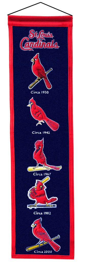 "St. Louis Cardinals 8""x32"" Wool Heritage Banner"