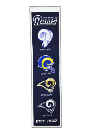 "Los Angeles Rams 8""x32"" Wool Heritage Banner"
