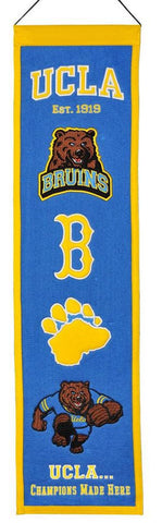 "UCLA Bruins 8""x32"" Wool Heritage Banner"