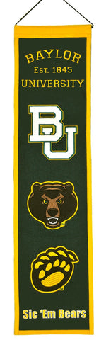 "Baylor Bears 8""x32"" Wool Heritage Banner"