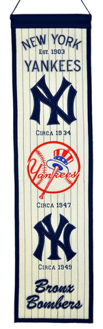 "New York Yankees 8""x32"" Wool Heritage Banner"