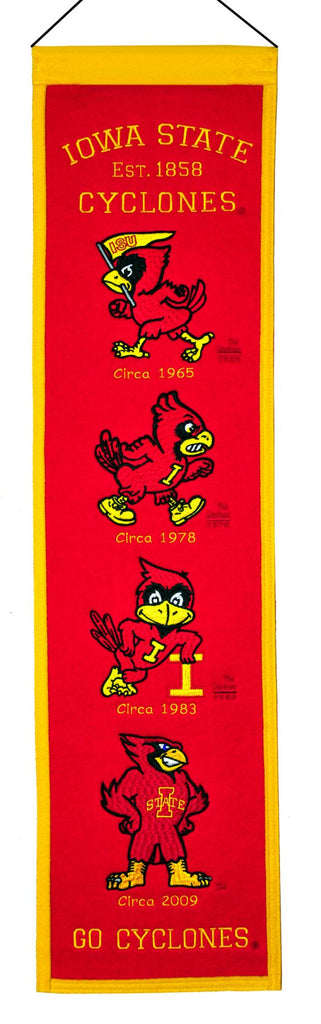 "Iowa State Cyclones 8""x32"" Wool Heritage Banner"