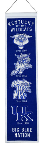 "Kentucky Wildcats 8""x32"" Wool Heritage Banner"