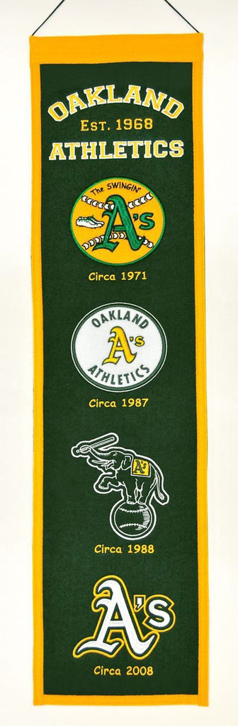"Oakland A's 8""x32"" Wool Heritage Banner"