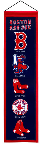 "Boston Red Sox 8""x32"" Wool Heritage Banner"