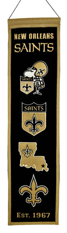 "New Orleans Saints 8""x32"" Wool Heritage Banner"