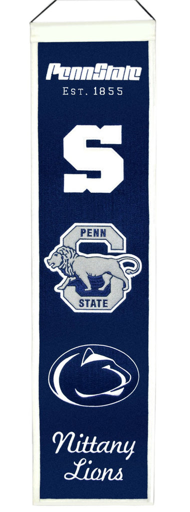 "Penn State Nittany Lions 8""x32"" Wool Heritage Banner"