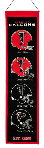 "Atlanta Falcons 8""x32"" Wool Heritage Banner"