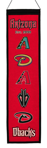 "Arizona Diamondbacks 8""x32"" Wool Heritage Banner"