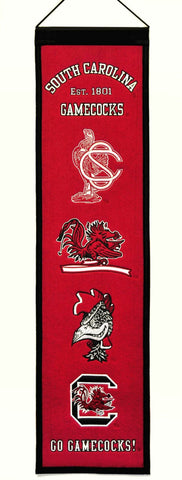 "South Carolina Gamecocks 8""x32"" Wool Heritage Banner"
