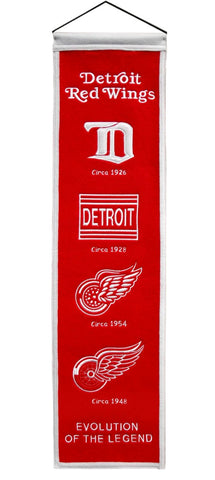 "Detroit Red Wings 8""x32"" Wool Heritage Banner"