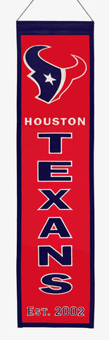 "Houston Texans 8""x32"" Wool Heritage Banner"