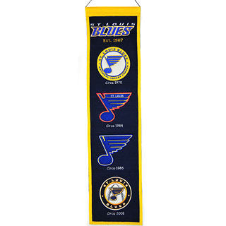 "St. Louis Blues 8""x32"" Wool Heritage Banner"