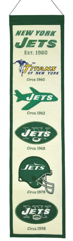 "New York Jets 8""x32"" Wool Heritage Banner"