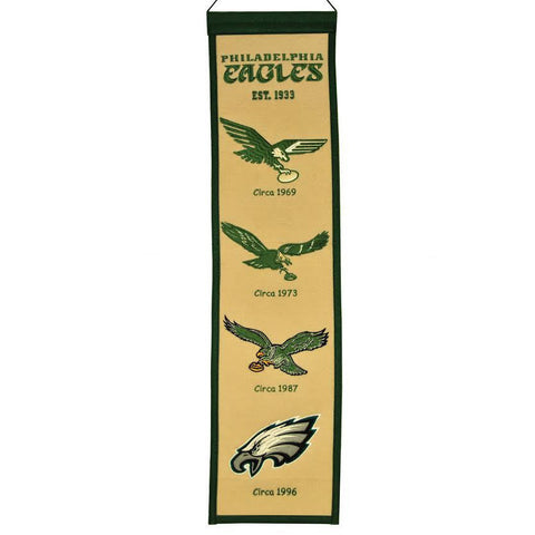 "Philadelphia Eagles 8""x32"" Wool Heritage Banner"