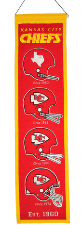 "Kansas City Chiefs 8""x32"" Wool Heritage Banner"