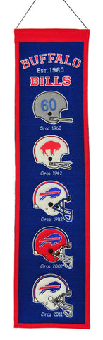 "Buffalo Bills 8""x32"" Wool Heritage Banner"