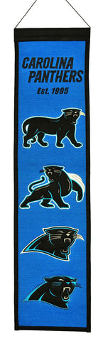 "Carolina Panthers 8""x32"" Wool Heritage Banner"