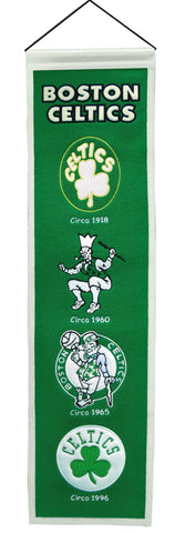 "Boston Celtics 8""x32"" Wool Heritage Banner"