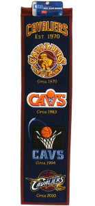 "Cleveland Cavaliers 8""x32"" Wool Heritage Banner"