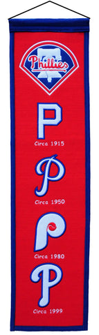 "Philadelphia Phillies 8""x32"" Wool Heritage Banner"