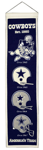 "Dallas Cowboys 8""x32"" Wool Heritage Banner"