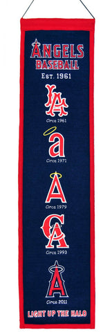 "Los Angeles Angels 8""x32"" Wool Heritage Banner"