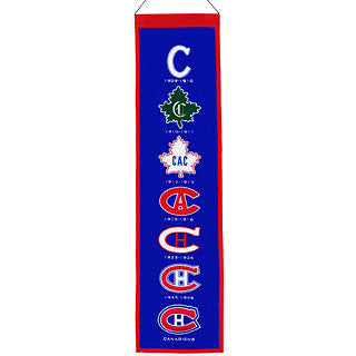 "Montreal Canadiens 8""x32"" Wool Heritage Banner"