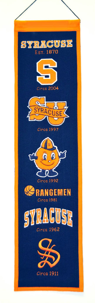 "Syracuse Orange 8""x32"" Wool Heritage Banner"