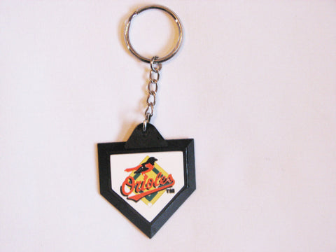 "Baltimore Orioles ""Orioles"" Logo Home Plate Style Keychain"