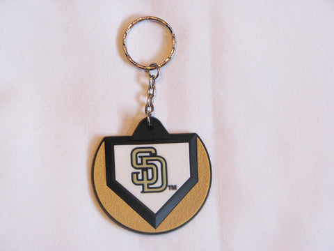 San Diego Padres Home Plate Style Keychain