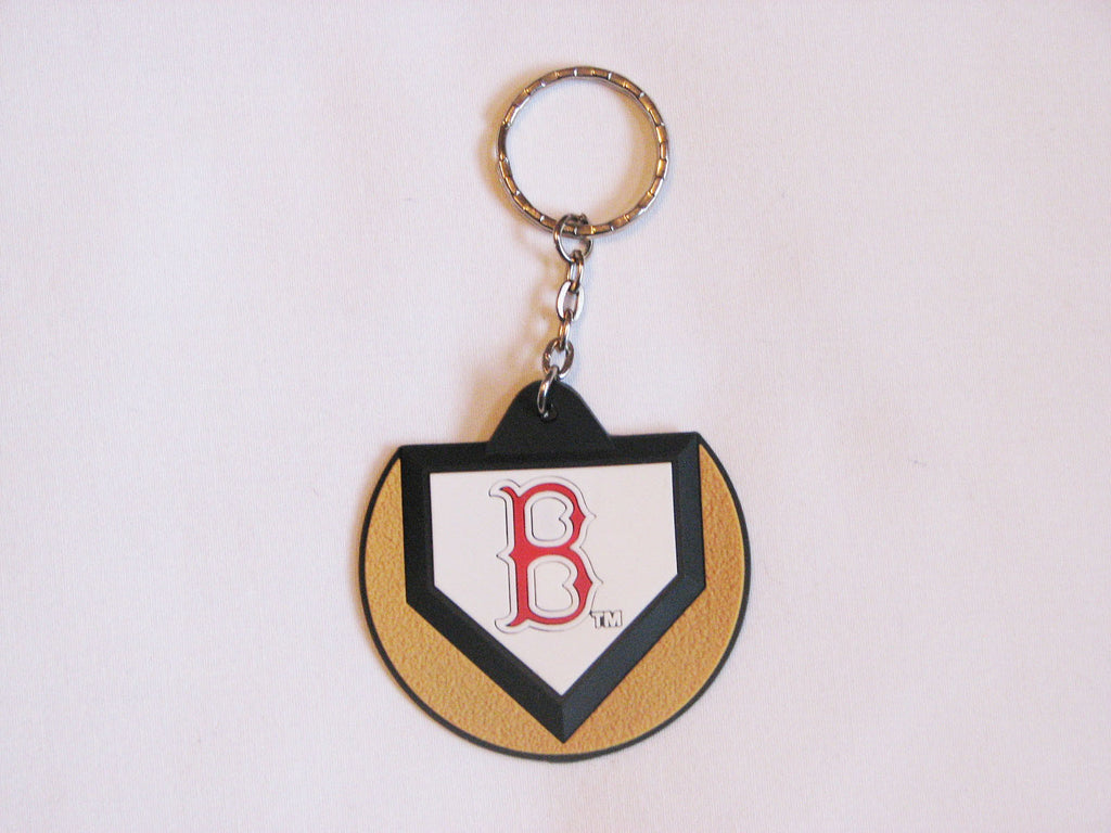 Boston Red Sox Home Plate Style Keychain