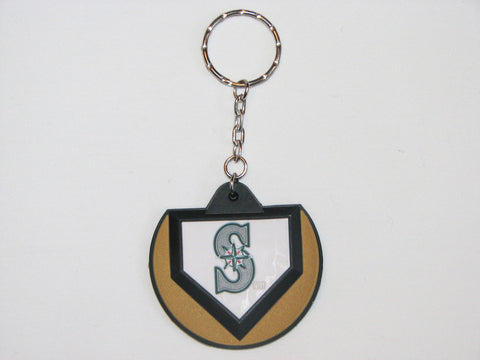 Seattle Mariners Home Plate Style Keychain