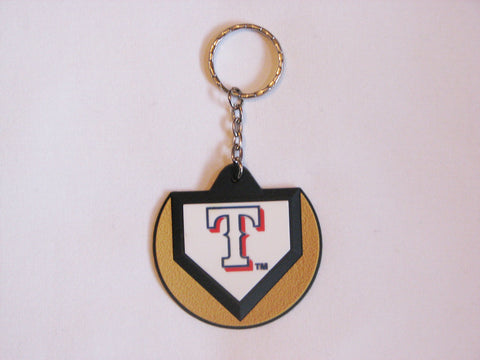 Texas Rangers Home Plate Style Keychain