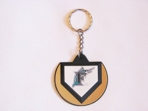 Florida Marlins Home Plate Style Keychain