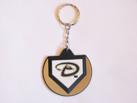 Arizona Diamondbacks Home Plate Style Keychain
