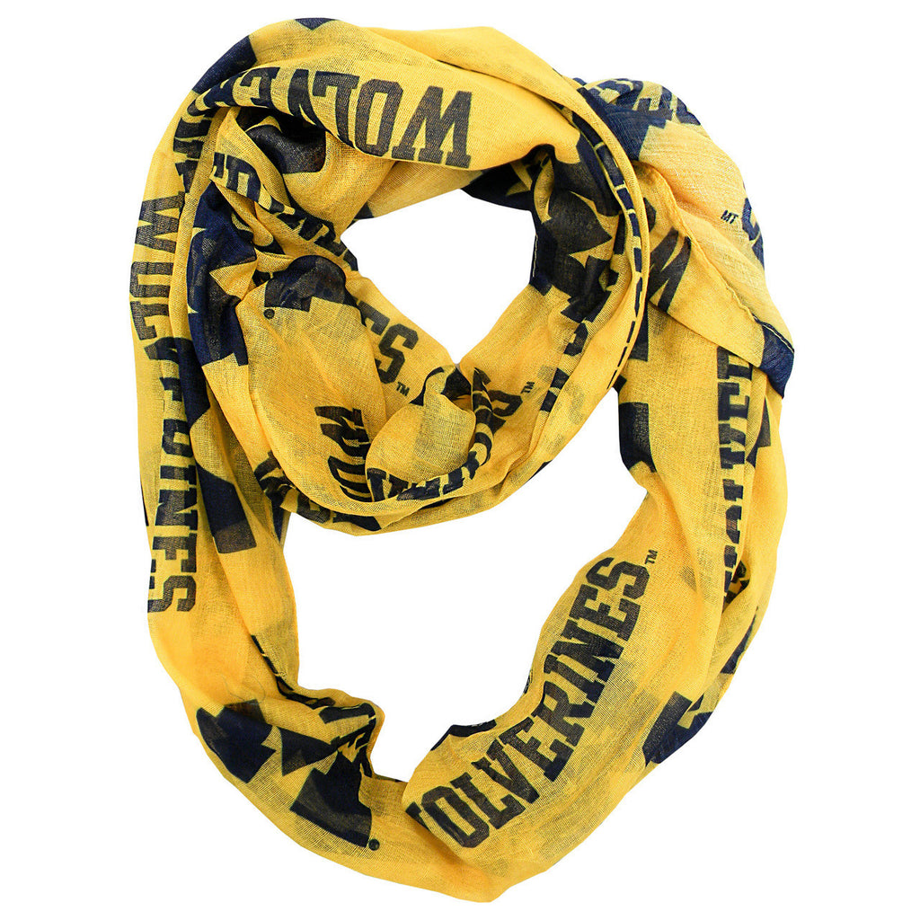 Michigan Wolverines Infinity Scarf - Alternate