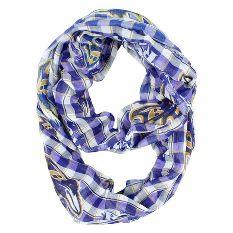 Baltimore Ravens Infinity Scarf - Plaid