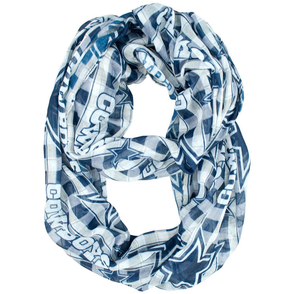 Dallas Cowboys Infinity Scarf - Plaid