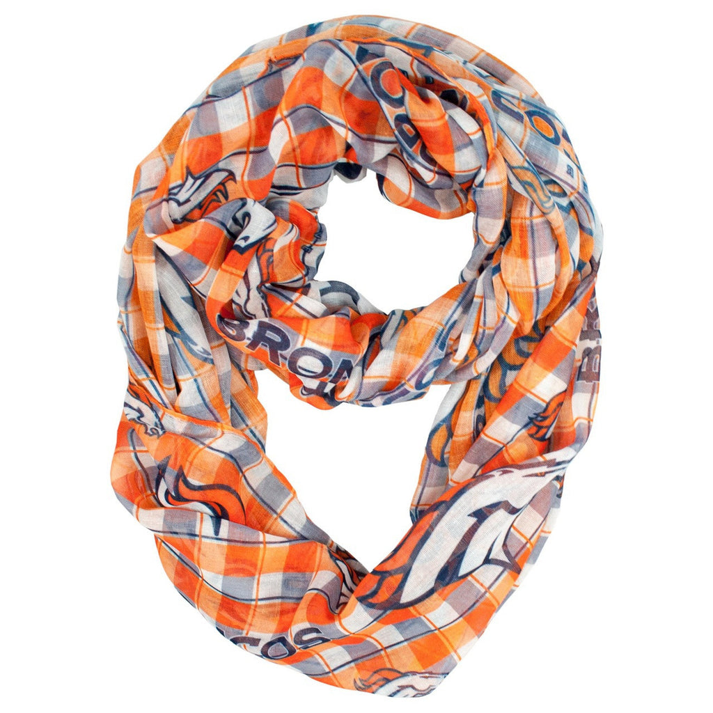 Denver Broncos Infinity Scarf - Plaid