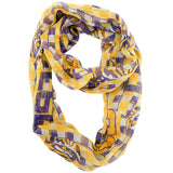 LSU Tigers Infinity Scarf - Plaid