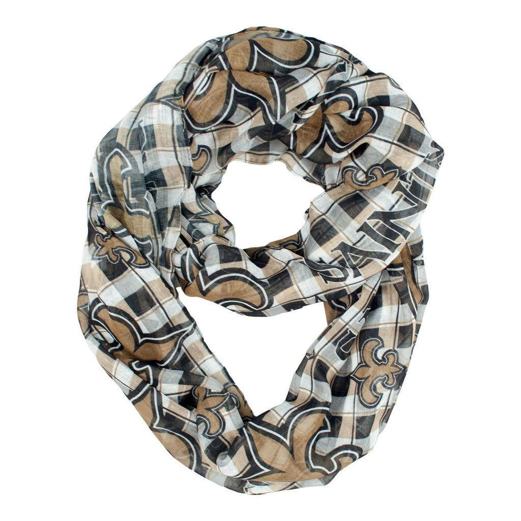 New Orleans Saints Infinity Scarf - Plaid