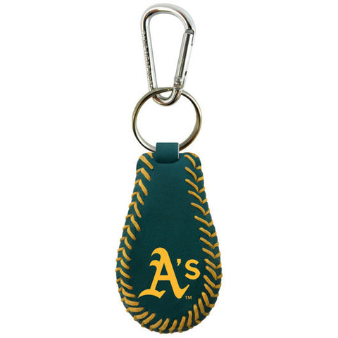 Oakland A's Team Color Keychain