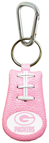 Green Bay Packers Pink Keychain