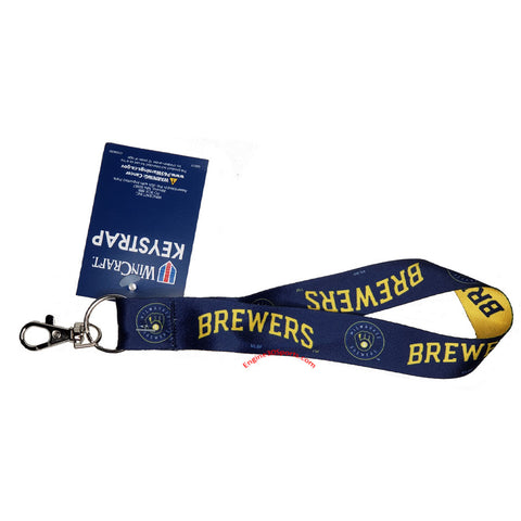 Milwaukee Brewers Wristlet Lanyard Key Strap