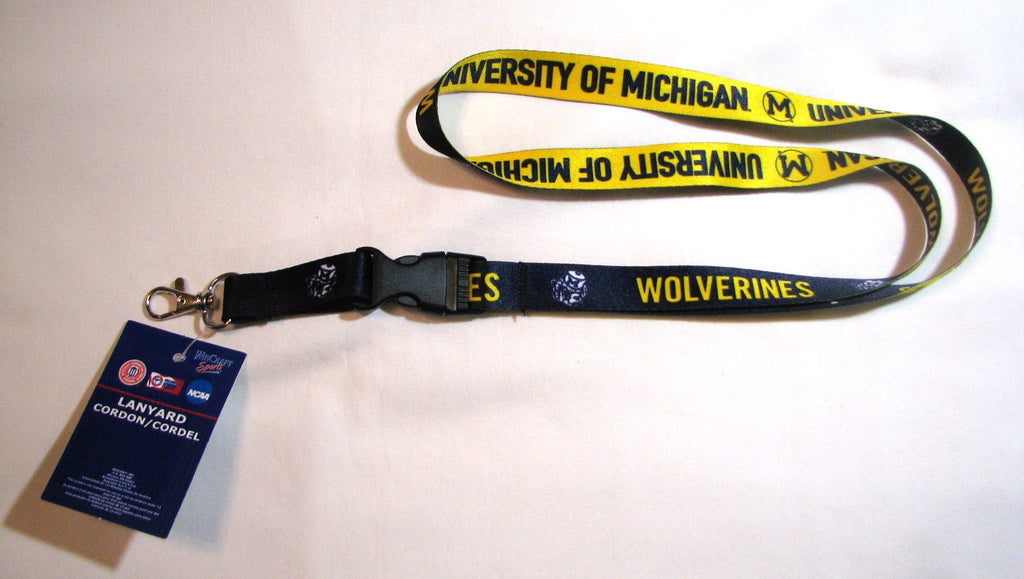 "Michigan Wolverines 22"" College Vault Lanyand"
