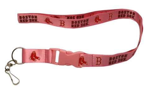 "Boston Red Sox 24"" Breakaway Lanyard - Pink"
