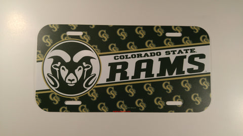 Colorado State Rams Plastic License Plate